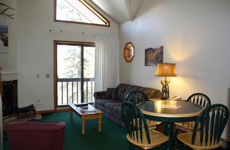 Guest loft room at Cascade Village Condominiums.