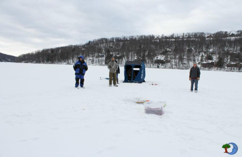 Ice fishing at Blue Moon Rising.