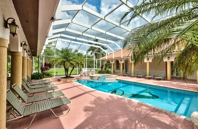 Rental pool at Naples Florida Vacation Homes.