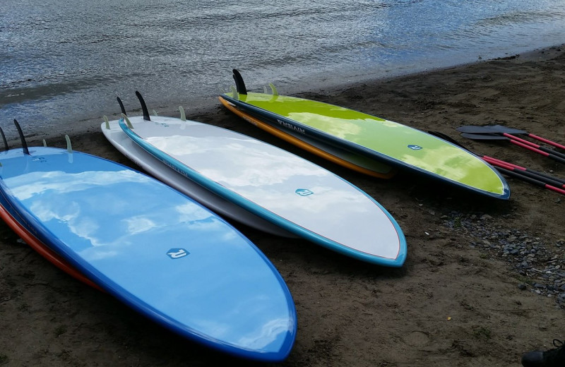 Paddle boards at  Surfside on the Lake Hotel & Suites.