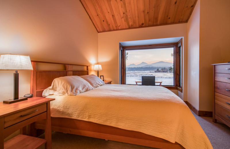 Rental bedroom at Black Butte Ranch.
