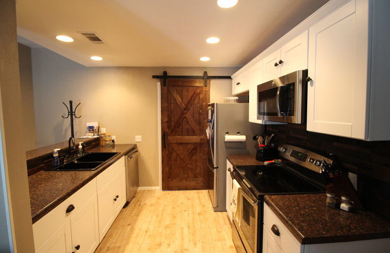 Rental kitchen at All Seasons Accommodations, Inc.