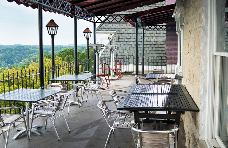 Patio at 1886 Crescent Hotel & Spa.