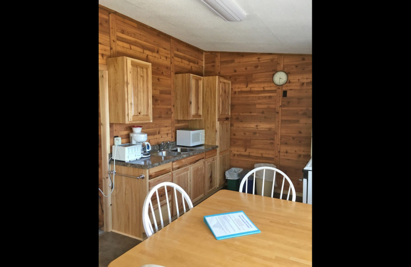 Cabin kitchen at Sullivans Resort & Campground.