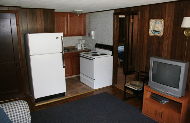 Cottage interior at Hemlock Campground & Cottages.