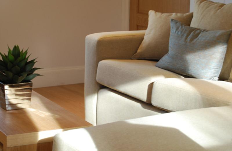 Cottage living room at West Highlands.