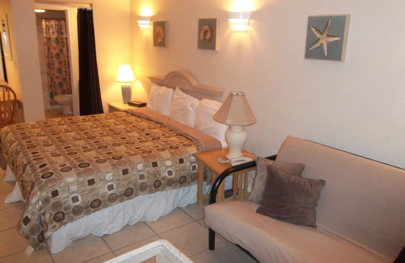 Guest suite at the Sea Breeze Suites Port Aransas.