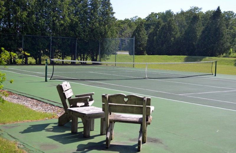 Tennis courts at the Country House Resort.