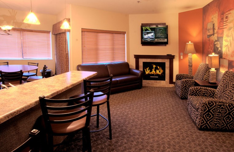 Guest suite at Kalahari Waterpark Resort Convention Center.