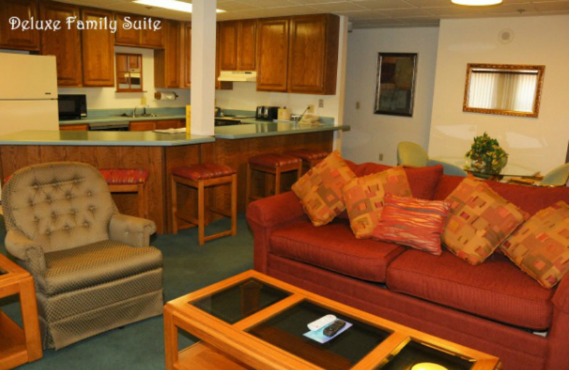 Deluxe family suite at Clarion Hotel at The Palace.