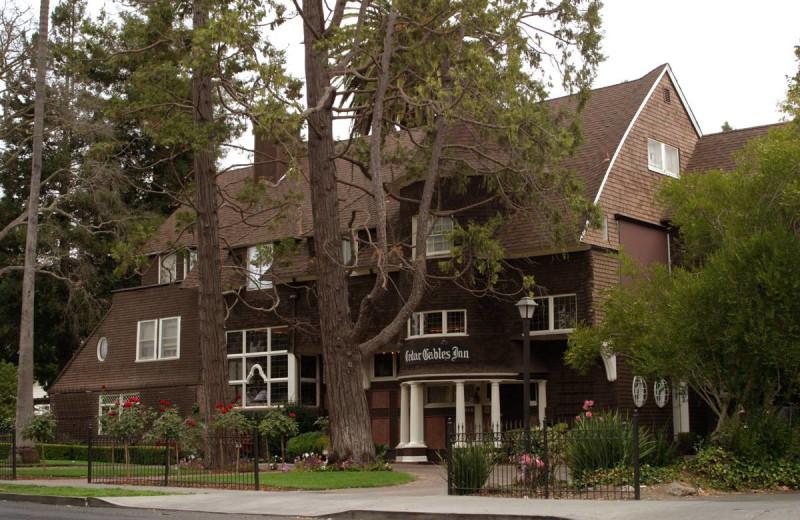Exterior view of Cedar Gables Inn.