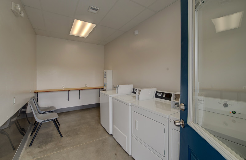Laundry room at Roystone Hot Springs.
