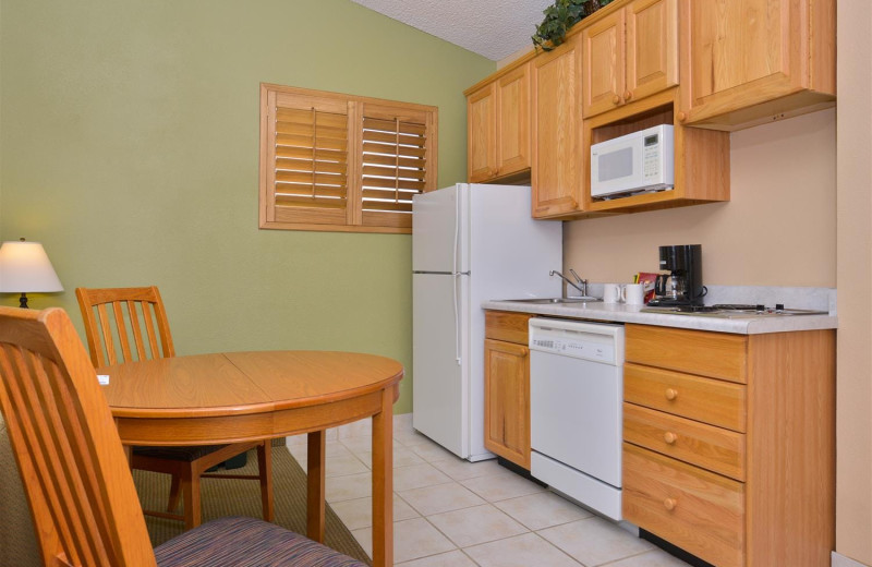 Guest room kitchen at Best Western Plus King's Inn & Suites.