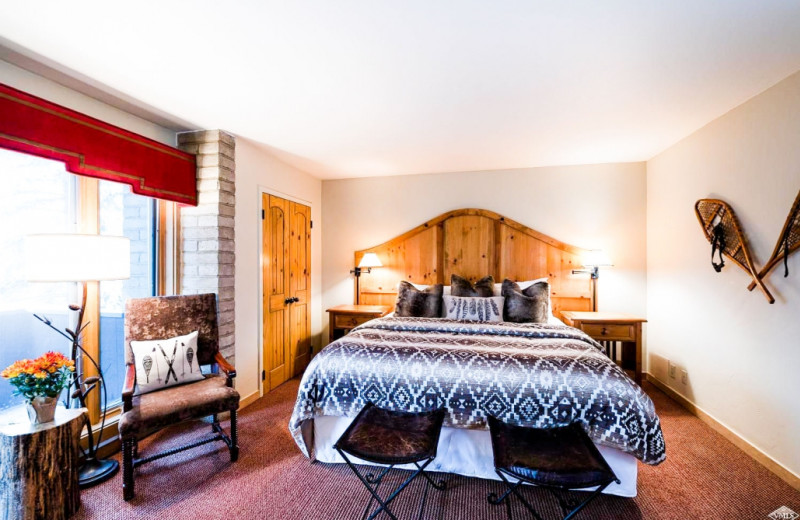 Guest room at Vail's Mountain Haus.