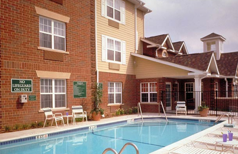 Outdoor pool at TownePlace Suites Detroit Dearborn.