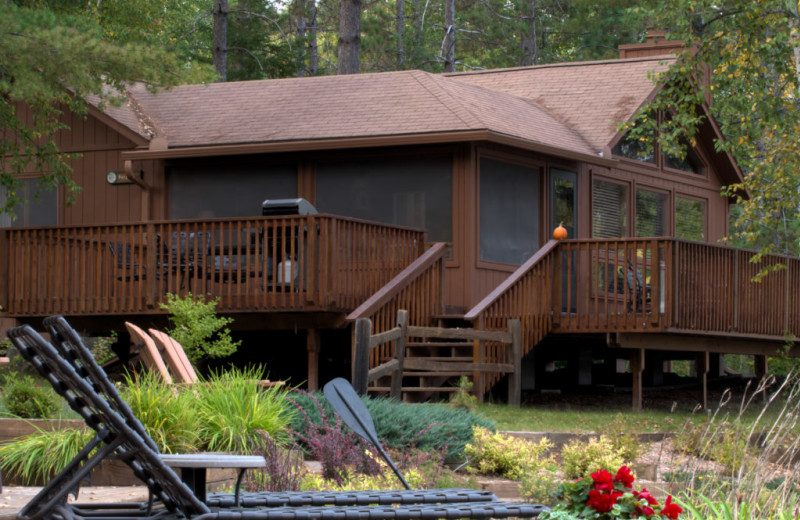 Cabin exterior at River Point Resort & Outfitting Co.