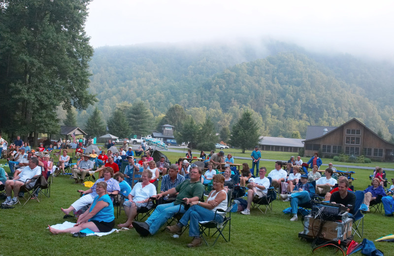 Outdoor event at Leatherwood Mountains Resort.