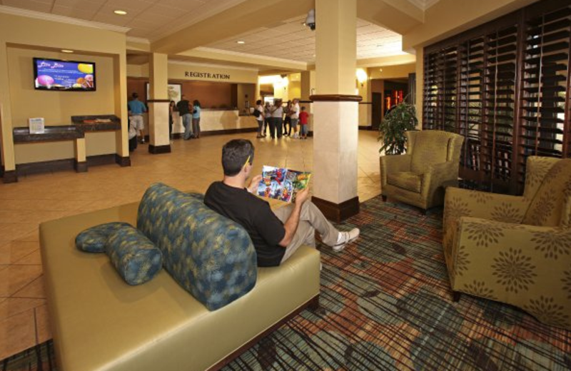 Lobby area at Rosen Inn at Pointe Orlando.
