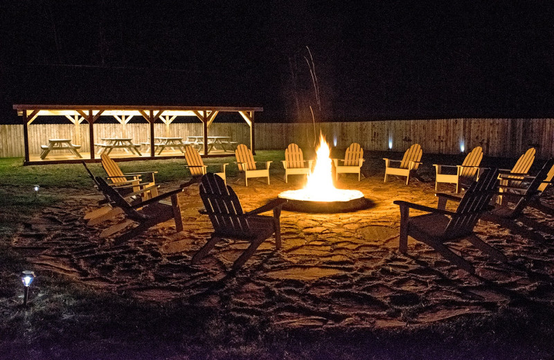 Bonfire at Mountain Springs Lake Resort.
