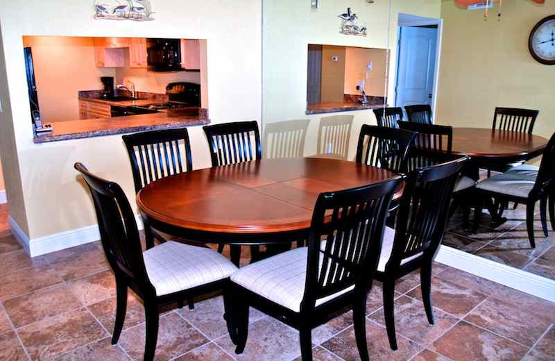 Dining room at Resort Rentals.