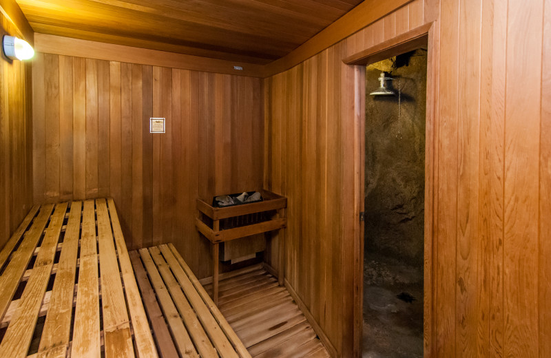 Sauna at The Fox Hotel & Suites in Banff.