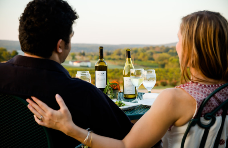 Couple at Chaumette Vineyards & Winery.