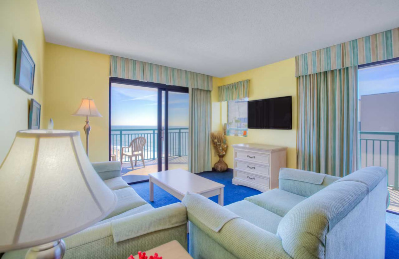 Guest living room at Sands Resorts.