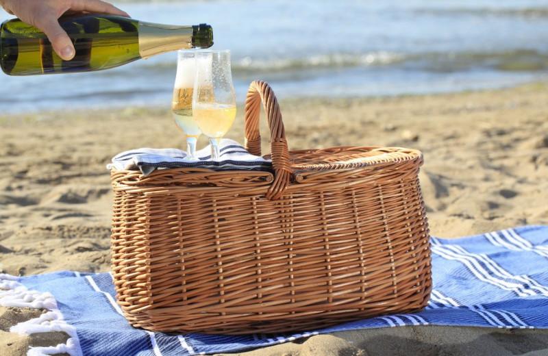 Beach picnic near Applewood Inn, Restaurant and Spa.