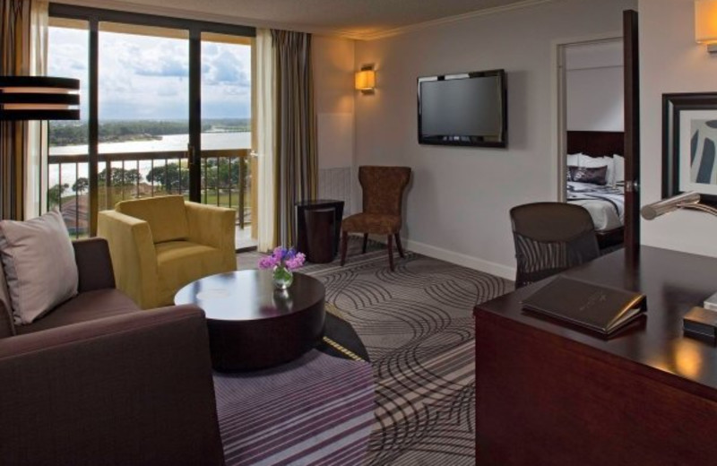 Tower room at La Torretta Lake Resort.