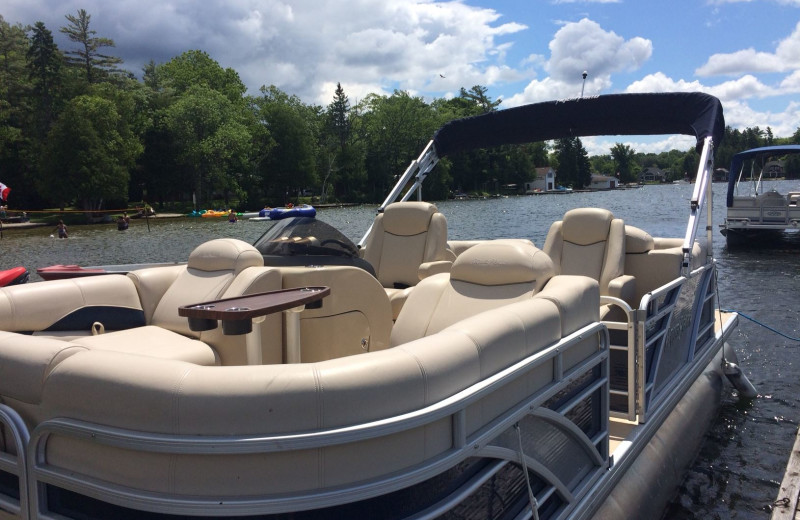Pontoon at Balsam Resort.