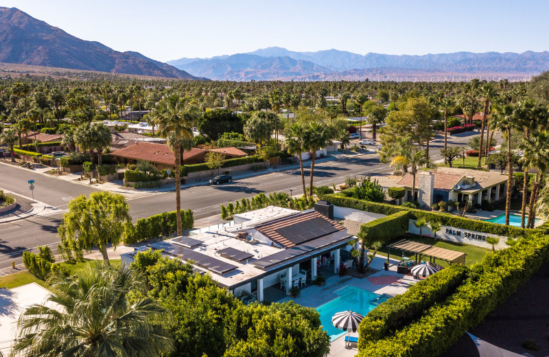 Aerial view of rental at Altez Vacations - Palm Springs.
