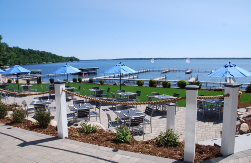 Patio at Quarterdeck Resort.