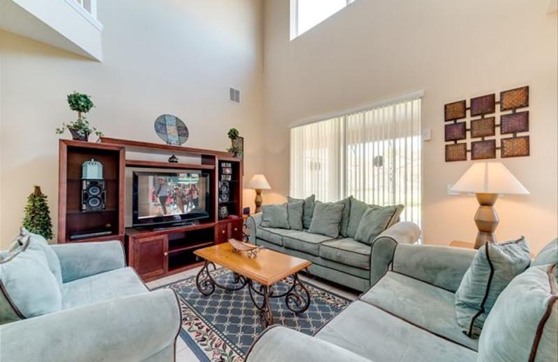 Rental living room at Luxury Reunion Rentals.