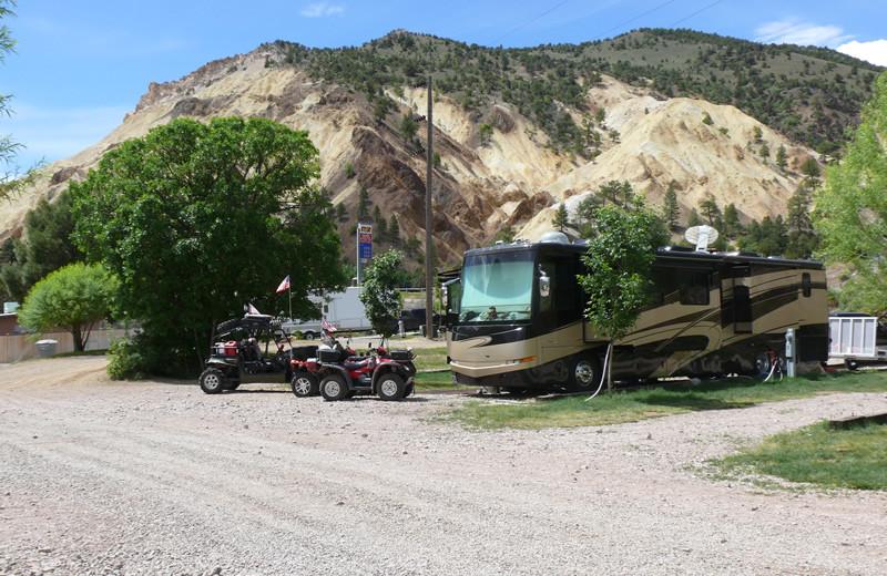 RV campground at Big Rock Candy Mountain Resort.