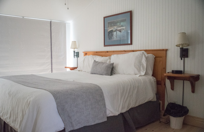 Guest bedroom at Elmhirst's Resort.
