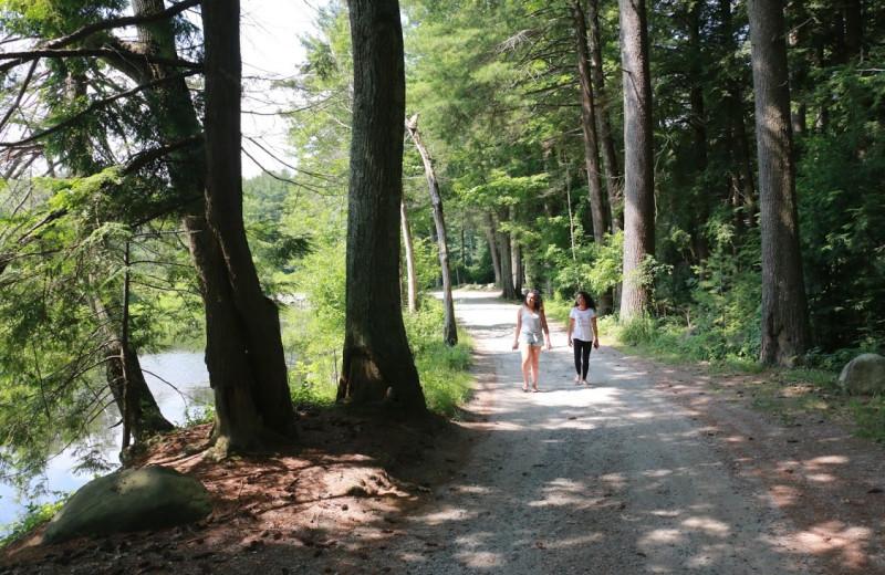 Park near Camp David Bantam Lake.