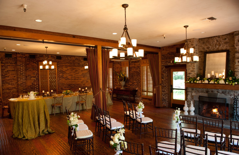 Indoor wedding at Villagio Inn and Spa.