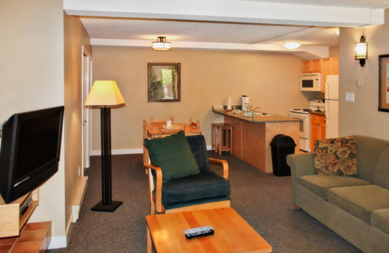 Living Room of a One Bedroom Unit at the Panorama Vacation Retreat at Horsethief Lodge