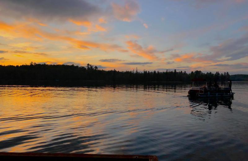 Lake view at Moore Springs Resort.