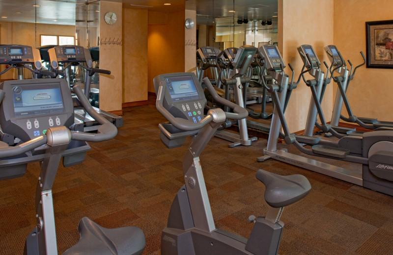 Fitness room at Hyatt Regency Greenwich.