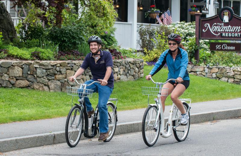 Biking at The Nonantum Resort.