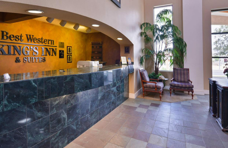 Lobby at Best Western Plus King's Inn & Suites.