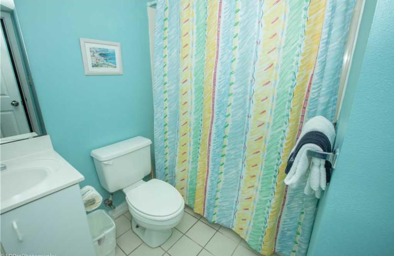 Bathroom at Holiday Isle Properties - Pelican Beach 110.