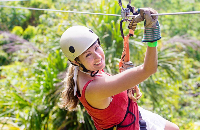 Zip line at The Lodge at Lane's End.