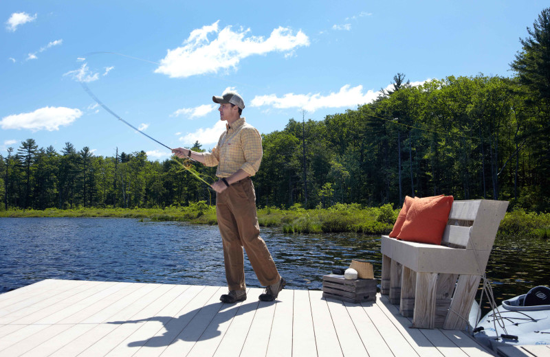 Fishing at The Lodge at Woodloch.