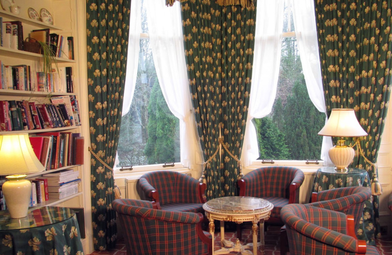 Lounge at Kirroughtree House Hotel.
