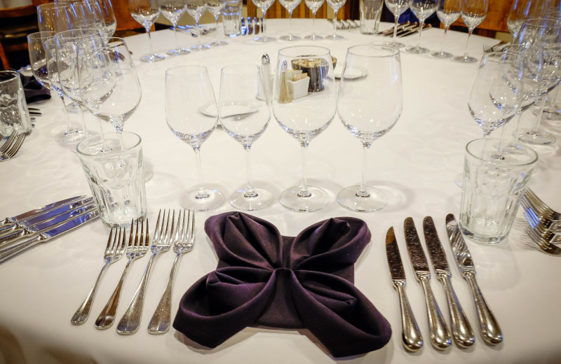 Formal dinner with an informal atmosphere