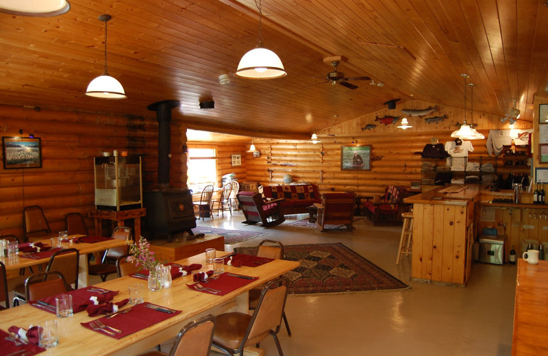 Dining at The Alaska Adventure Company.