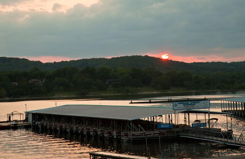 Fishing pier near Rockwood Resort.