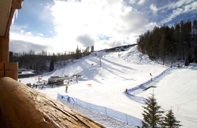 Skiing at Trickle Creek Lodge.